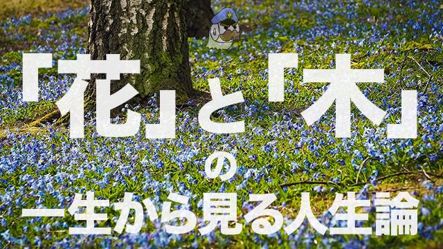 「花」と「木」の一生から見る人生論