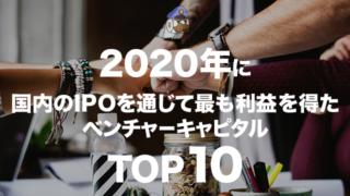 2020年に国内のIPOを通じて最も利益を得たベンチャーキャピタルTOP10
